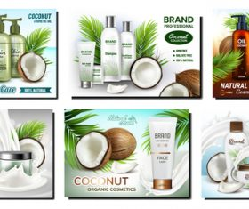 Plant essence series cosmetics advertising vector