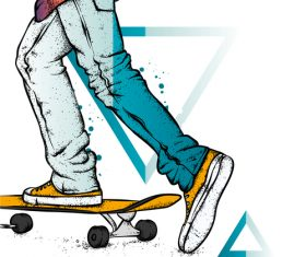 Play skateboard vector
