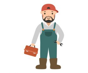 Plumber profession character vector