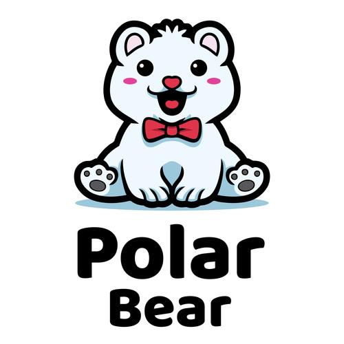 Polar bear mascot logo vector