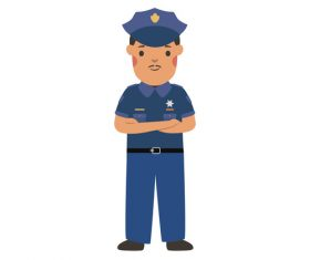 Police profession character vector