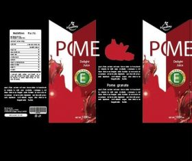 Pomegranate juice packaging design vector