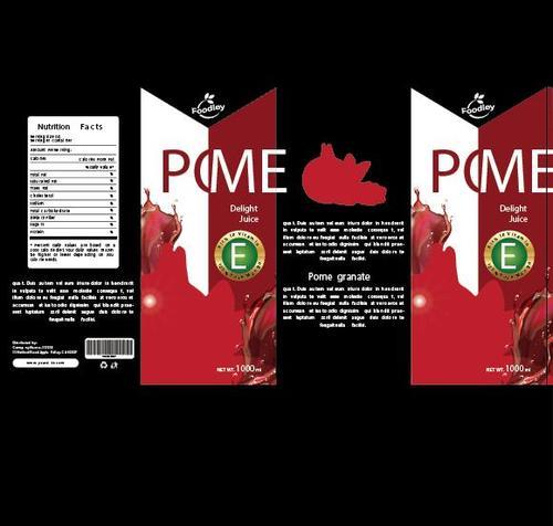Pomegranate juice packaging design vector