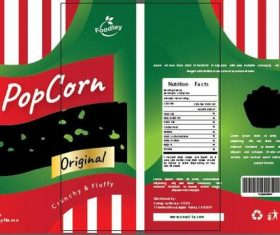 Pop corn packaging design vector