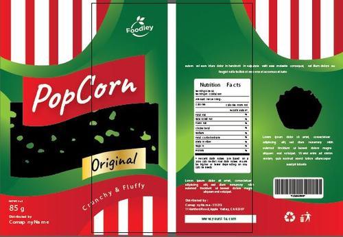 Pop corn packaging design vector