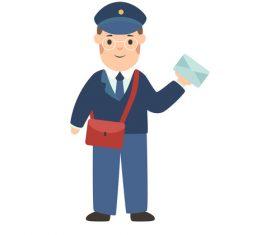 Postman profession character vector