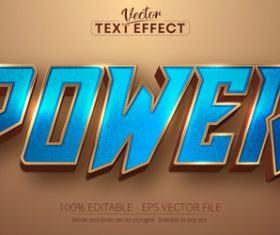 Power editable text effect vector