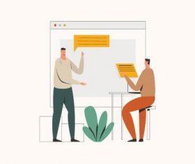 Presentation illustration vector