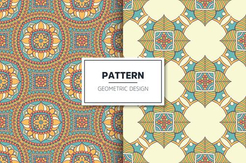 Pretty flower pattern seamless background design vector