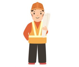 Profession character architect vector