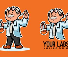 Professor cartoon illustration vector