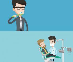 Protecting teeth cartoon illustration vector