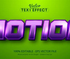 Purple editable text effect vector on green background
