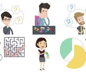 Puzzle cartoon illustration vector
