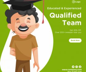 Qualified team cartoon illustration vector