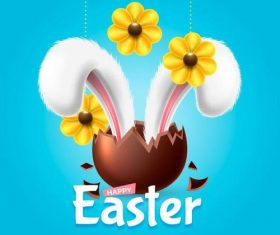 Rabbit ears easter illustration vector
