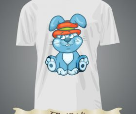 Rabbit t-shirts prints design vector