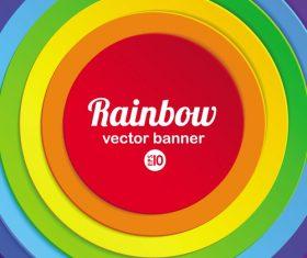 Rainbow vector banner
