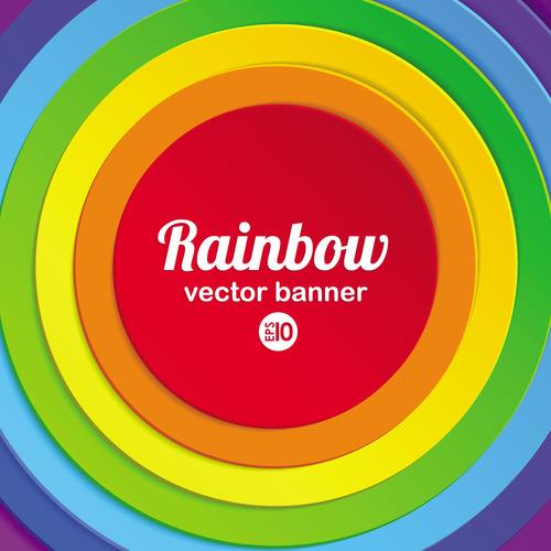 Download Rainbow vector banner free download
