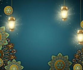 Ramadan Kareem background illustration in paper style vector