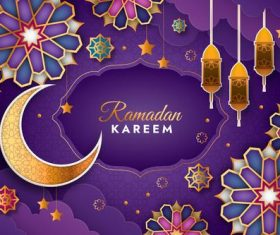 Ramadan Kareem exquisite beautiful card vector