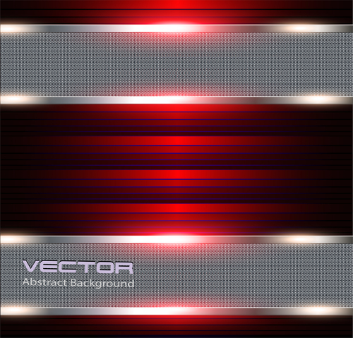 Red and silver background vector