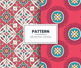 Red flower pattern seamless background design vector
