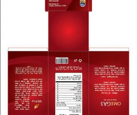 Red packaging fish oIl vector