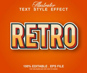Retro text style effect vector