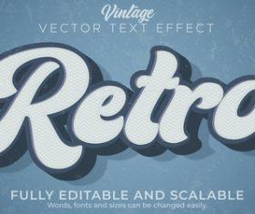 Retro vector text effect
