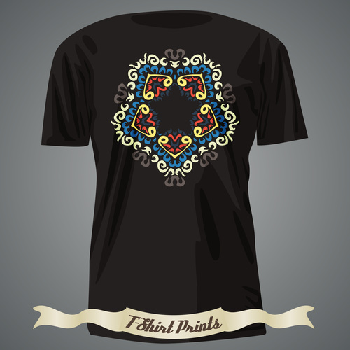 Rhombus color t shirts prints design vector