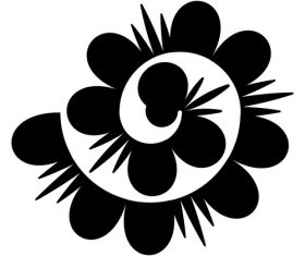 Rolled flower paper vector