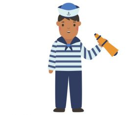 Sailor profession character vector