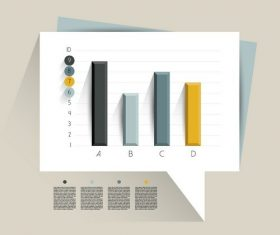 Sample text column infographic vector