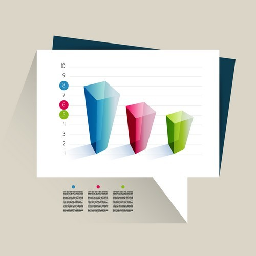Sample text infographic vector