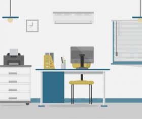 Secretary office illustration background vector
