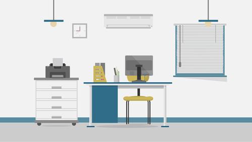 Secretary office illustration background vector