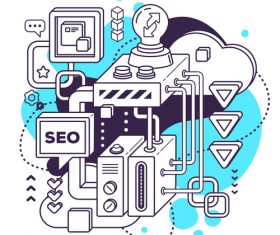 Seo business concept vector
