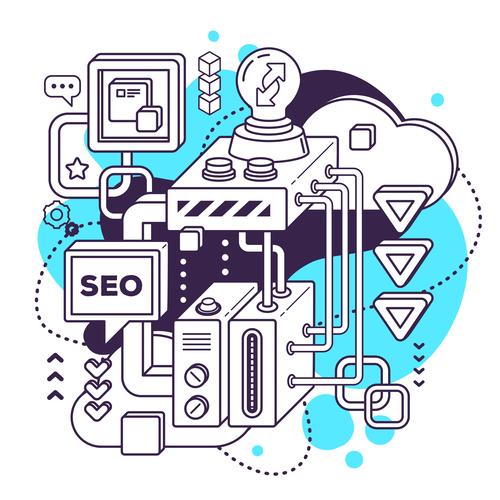 Seo business concept vector