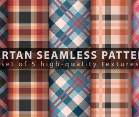 Set of classic tartan seamless pattern vector