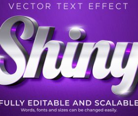 Shiny vector text effect