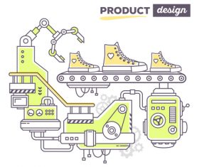 Shoe product design vector
