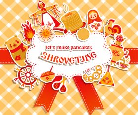 Shrovetide holiday card vector