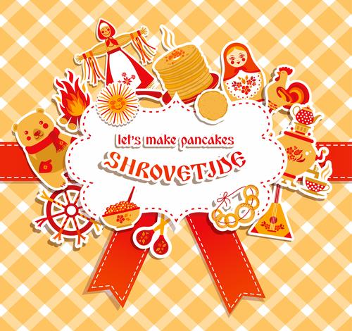 Shrovetide holiday card vector