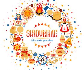 Shrovetide specialty food vector