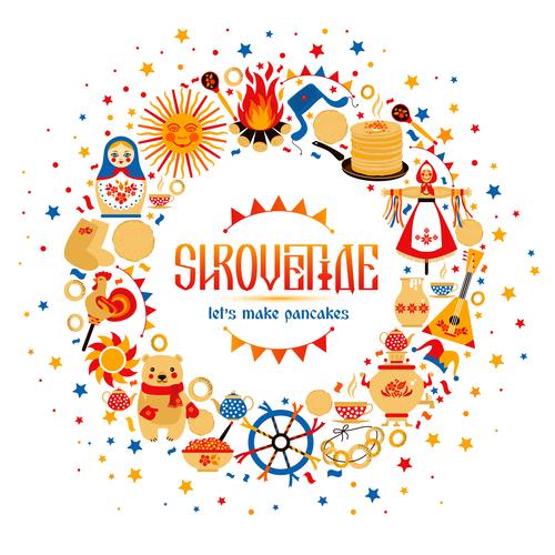 Shrovetide specialty food vector
