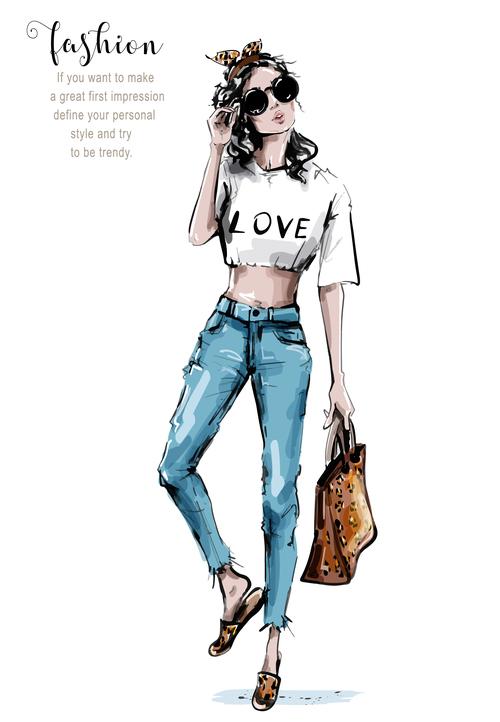 Simple fashion vector