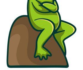 Simple frog logo vector