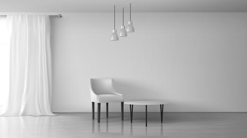 Simple interior design vector