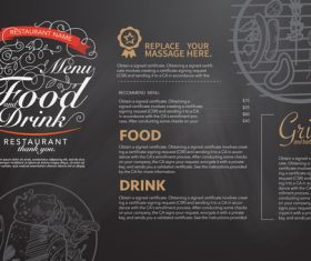 Simple menu card vector